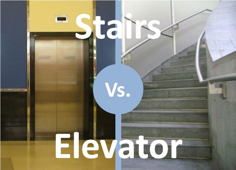 benefits of taking the stairs instead of the elevator