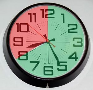 clock showing intermittent fasting times