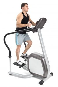 Man using a stepper machine
